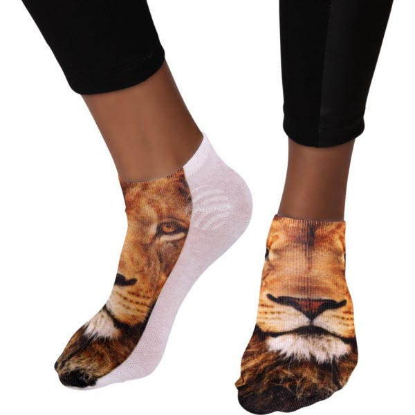 Sneaker sokken vrouw met coole afdruk
